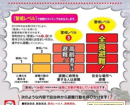 気象庁の5段階の「警戒レベル」