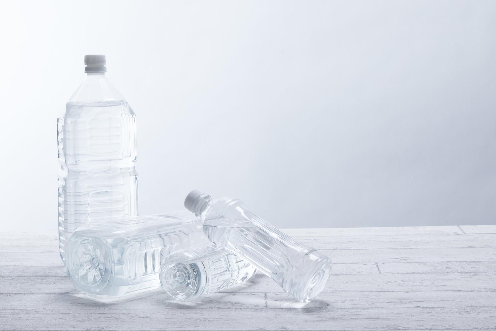 災害時の飲料水、1日分としては3,000ml必要です